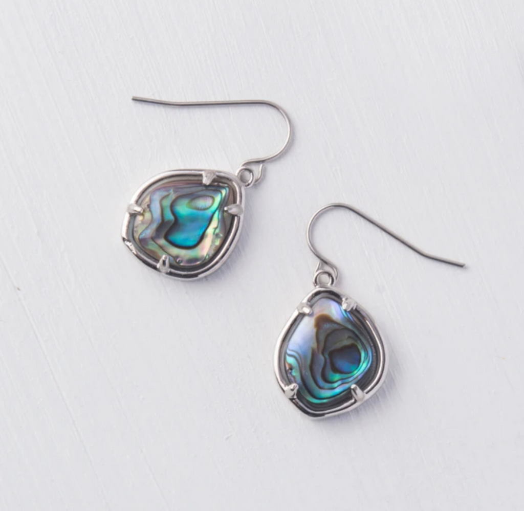 Silver Abalone Shell Earrings- Give Freedom To Girls & Women