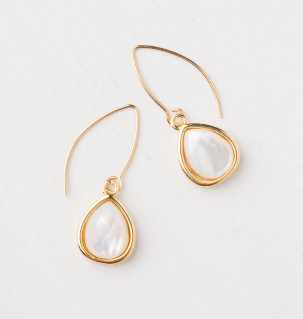 Gold Mother Of Pearl Wrapped Earrings- Give Freedom To Girls & Women