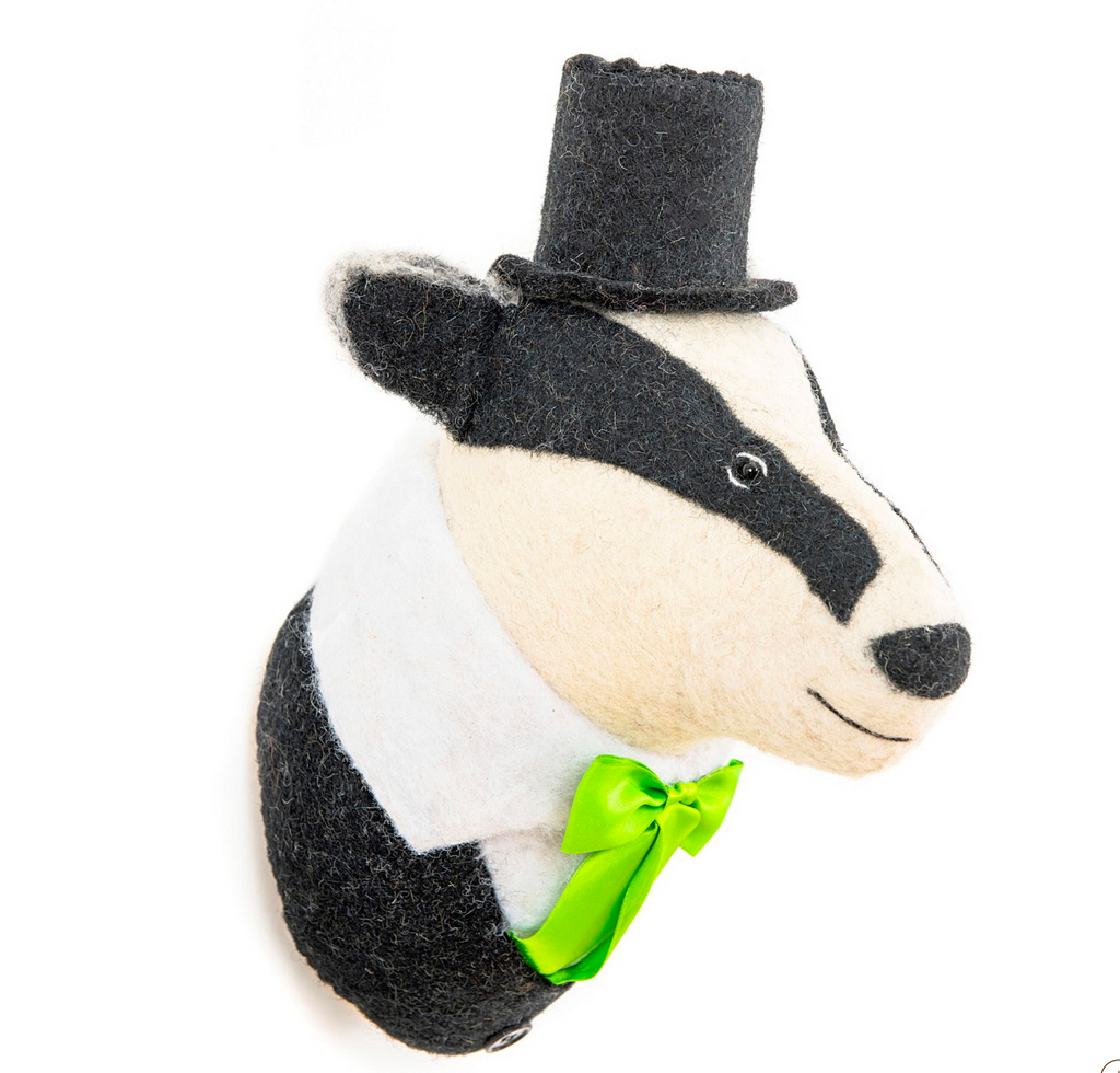 Badger Kids Wall Decor,  Supports Fair trade Artisans in Nepal
