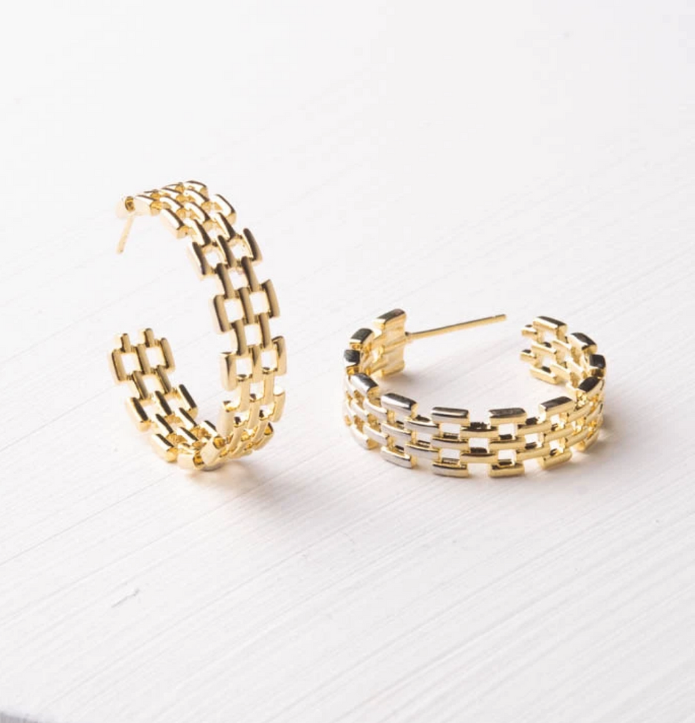 Gold Geometric Hoop Earrings, Give freedom to exploited girls & women!