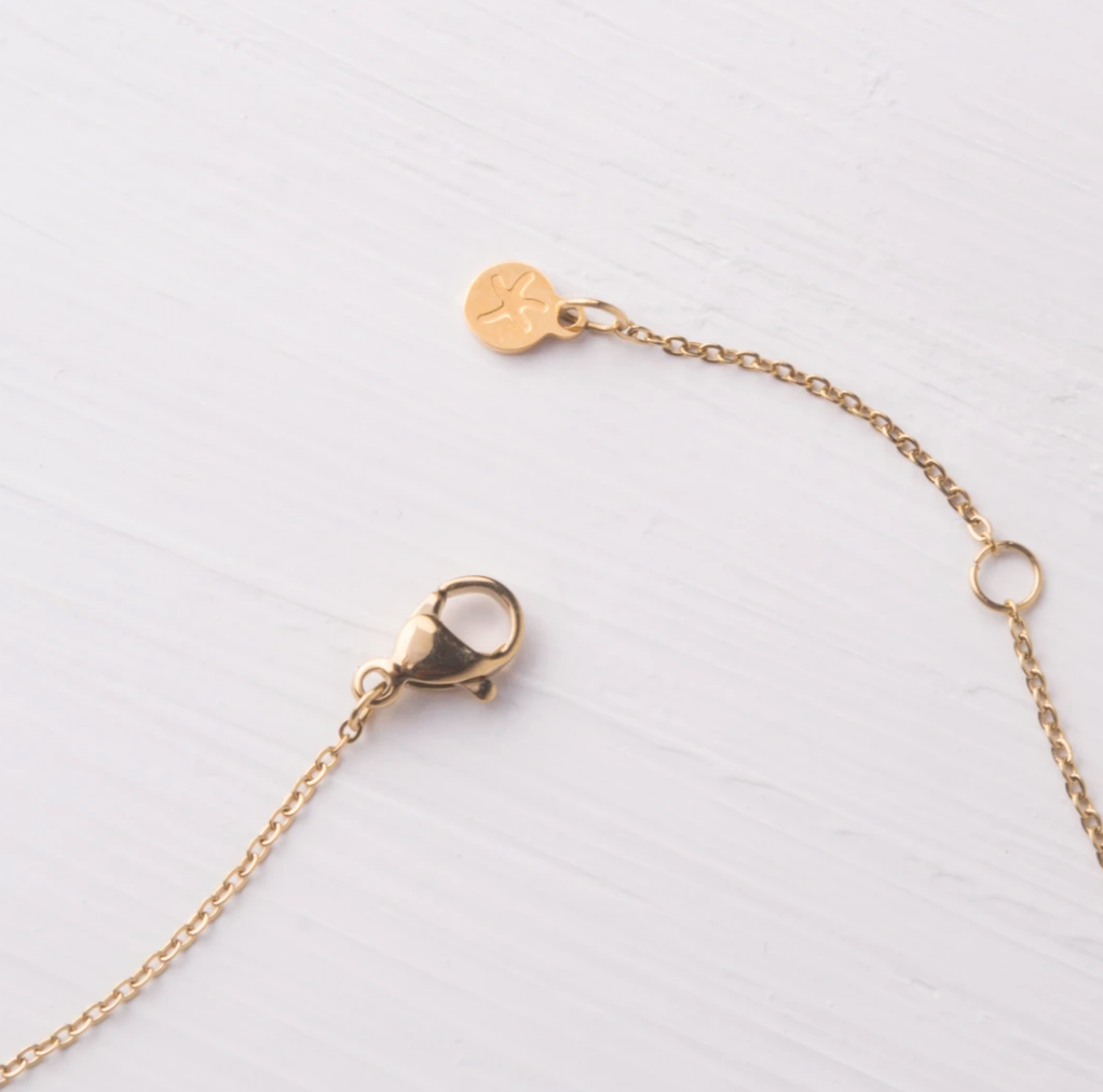 Joy,Peace,Faith, and Hope Gold Bar Necklace, Give Freedom to women!