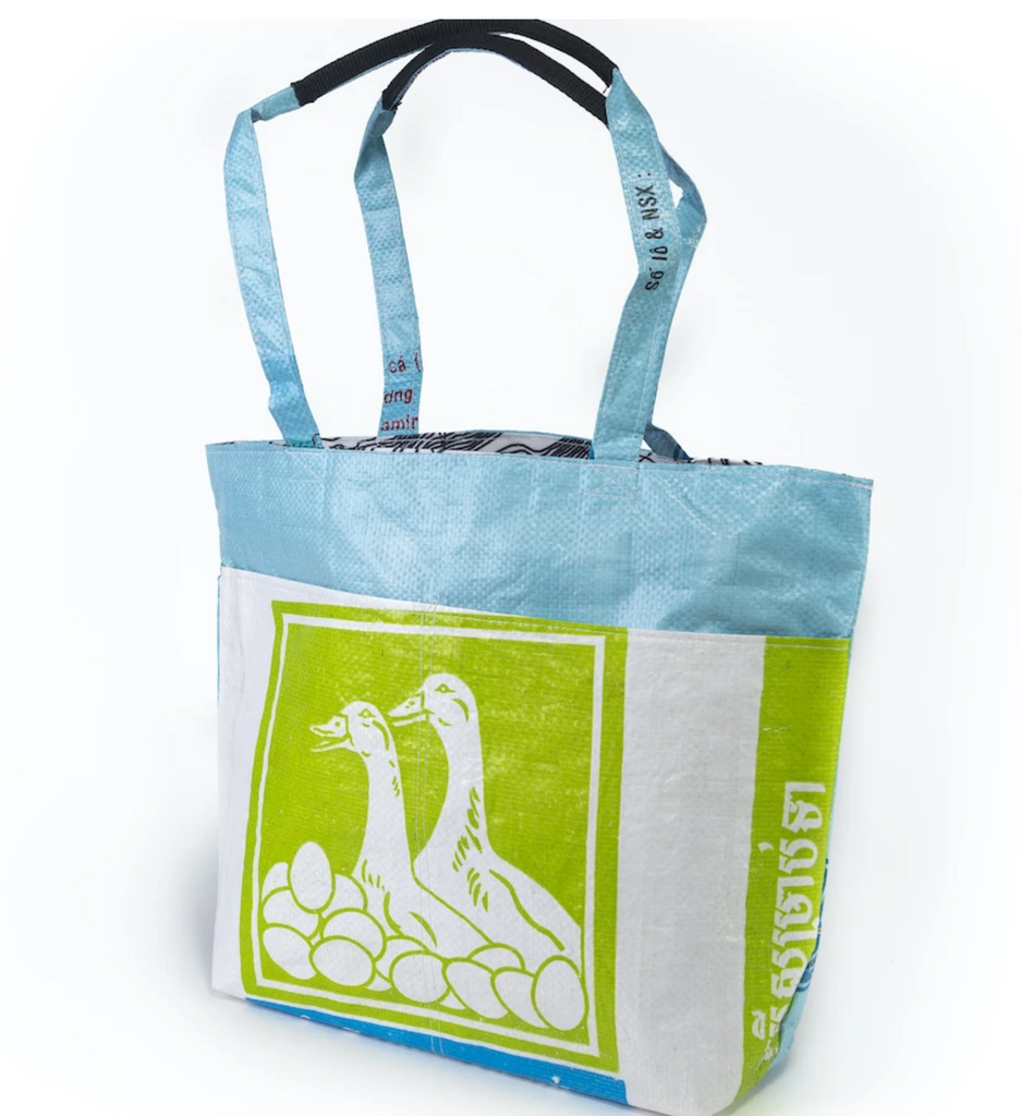 Upcycled Tote Bag, (Choose your Pattern) Saves landfill space, supports sustainable & healthy communities worldwide.
