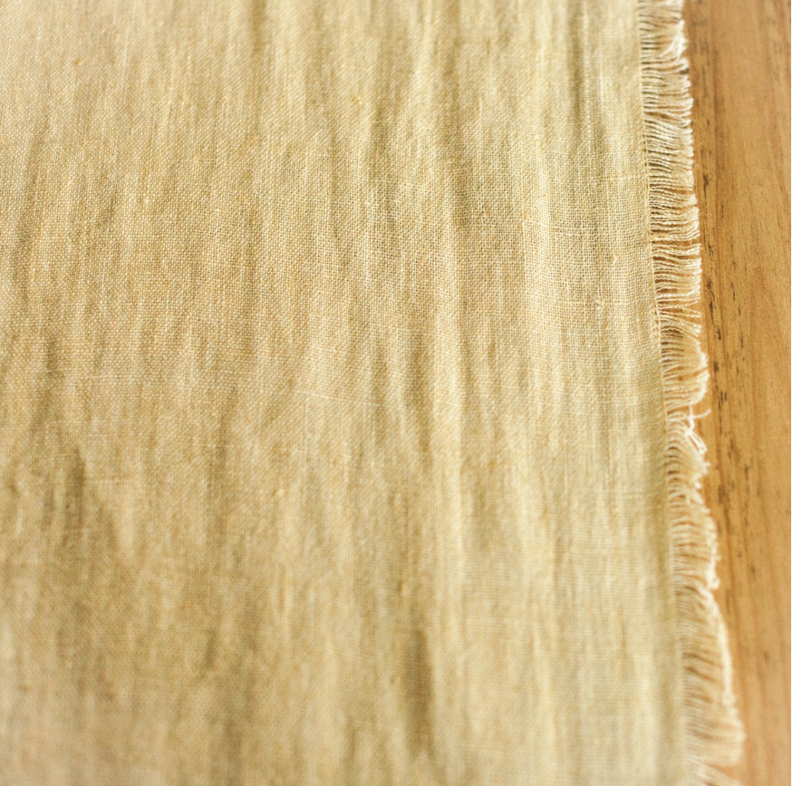 Hand Woven, Stone Washed Linen Table Runner, Eco-Friendly, Fair Trade