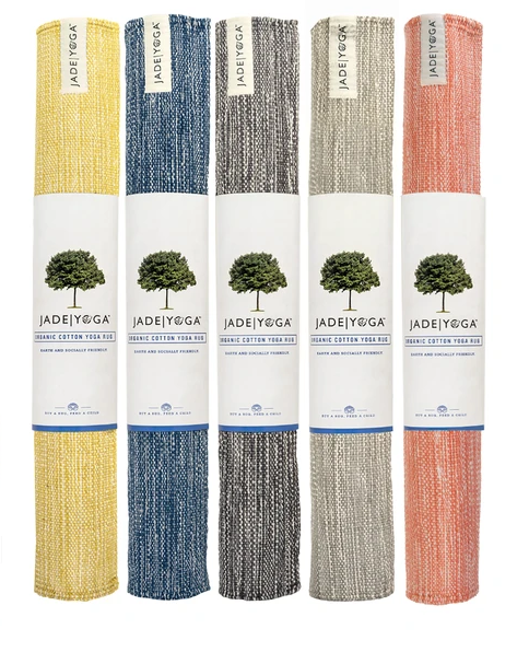 Handwoven Organic Yoga Rugs- Fair Trade, Give a weeks lunch to a child