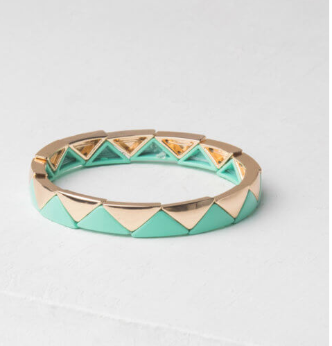 Turquoise & Gold Bracelet, Give freedom to exploited girls & women!