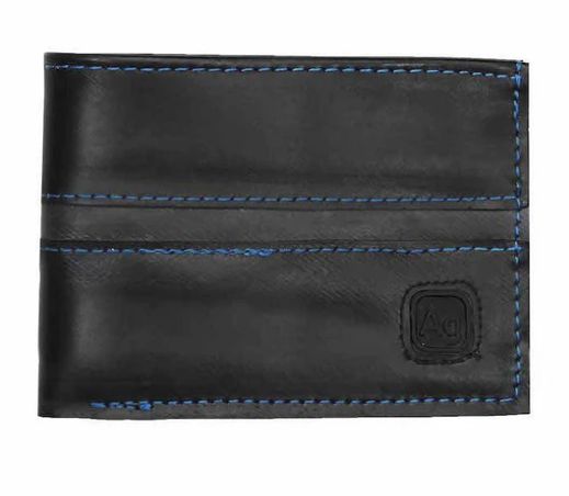 Upcycled slim wallet from reclaimed tires- Eco-Friendly - Made in the USA - Saves Landfill Space!