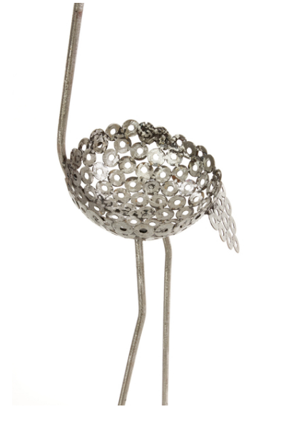 Recycled metal Ostrich garden plant & flower holders, Fair Trade from Kenya