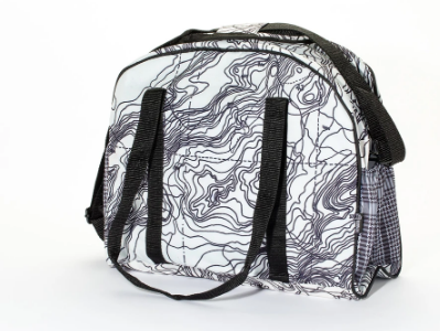 Upcycled Crossbody Diaper Bag or Gym Bag (Pick your Pattern) saves landfill space