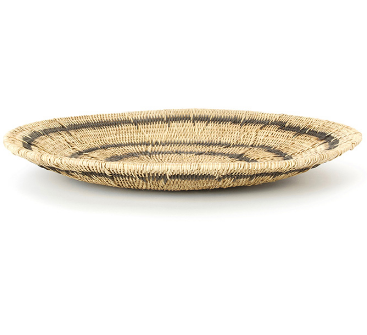 Hand Woven Black Ring Mekenge Root Wedding Baskets from Zambia, Fair Trade