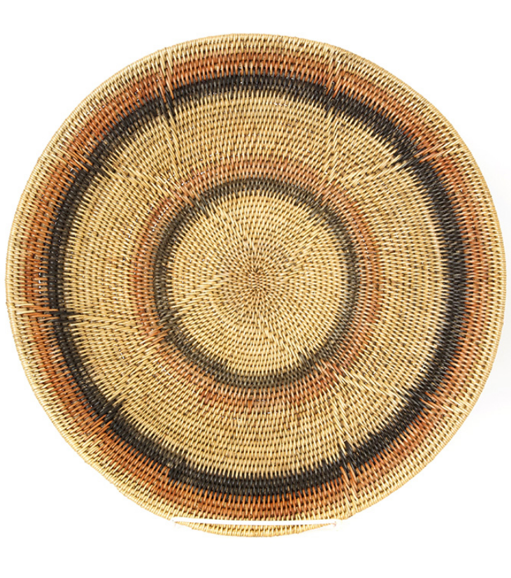 Hand Woven Peach & Black Wedding Baskets from Zambia, Fair Trade