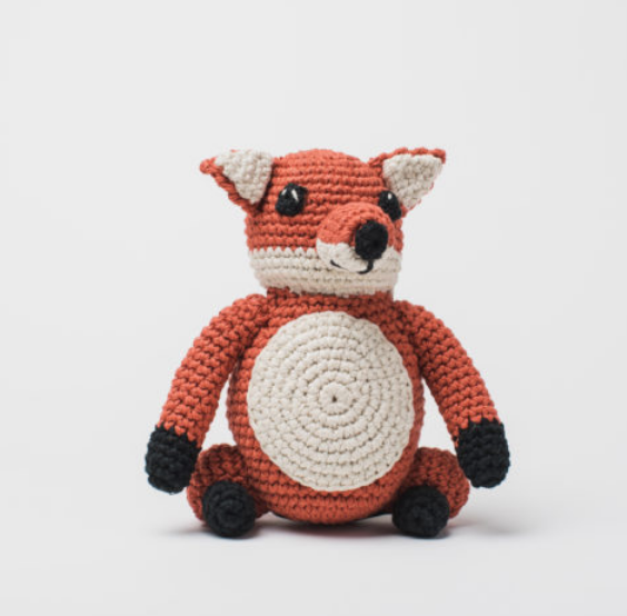 Hand Crocheted Stuffed Animal- Fox- Helps Break the Cycle of Poverty - Give Back Goods
