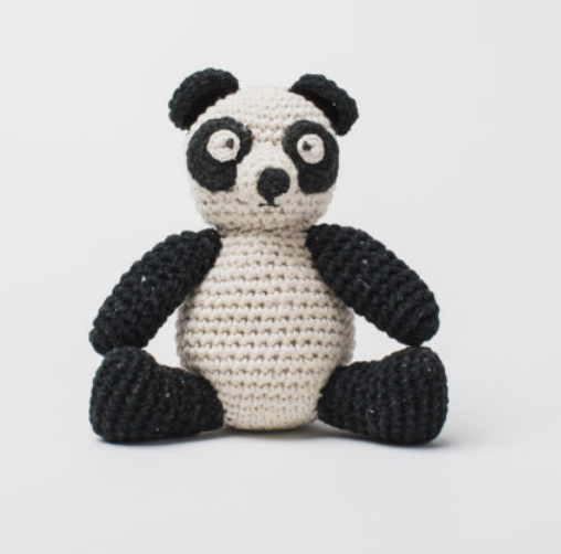 Hand Crocheted Stuffed Animal- Panda Bear - Helps Break the Cycle of Poverty - Give Back Goods