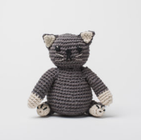 Hand Crocheted Stuffed Animal- Cat - Helps Break the Cycle of Poverty - Give Back Goods