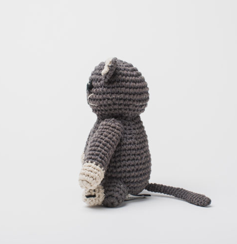 Hand Crocheted Kitten Stuffed Animal, Fair Trade - Give Back Goods
