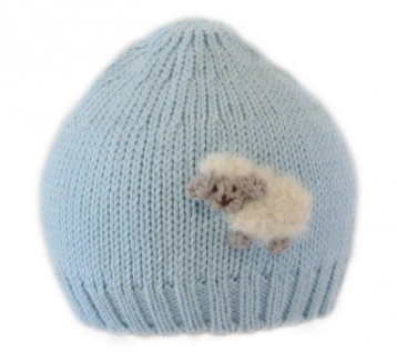 Baby Hat with Sheep (Blue or Pink)- Support Fair Trade for Artisans - Give Back Goods