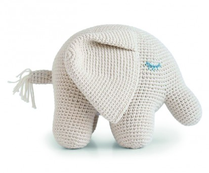 100%  Organic Cotton Handmade Big Elephant- Support Fair Trade for Artisans - Give Back Goods