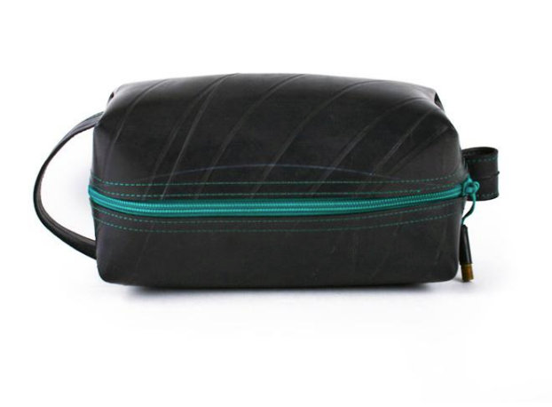 Mini Dopp upcycled Travel Kit- Eco-Friendly- Made in the USA- Saves Landfill Space! - Give Back Goods