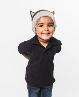 Little Wolf Baby/ Child Hat- Helps Break the Cycle of Poverty - Give Back Goods