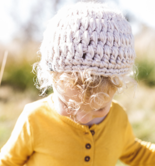 Handmade Betty Jr. toddler Beanie Hat- Helps Break the Cycle of Poverty! - Give Back Goods