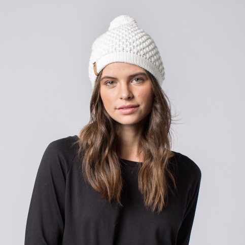 Handmade Pom Beanie Hat- Help Break the Cycle of Poverty - Give Back Goods