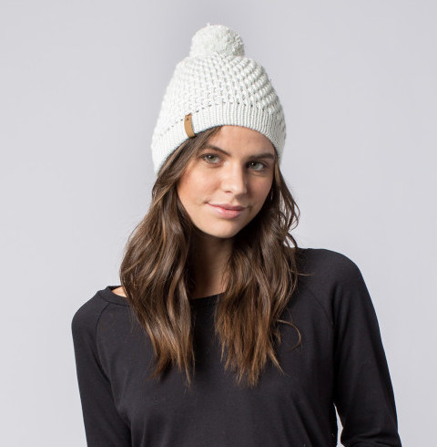 Handmade Abby Pom Beanie Hat- Help Break the Cycle of Poverty - Give Back Goods