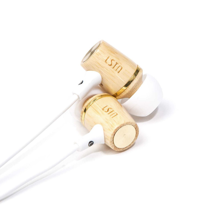 Wembley Bamboo Wired  Earbuds - Gives hearing aids to people in need - Give Back Goods