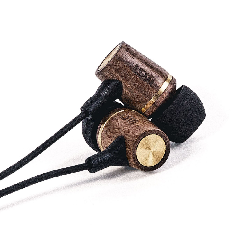 Wembley Walnut Wired  Earbuds - Gives hearing aids to people in need - Give Back Goods