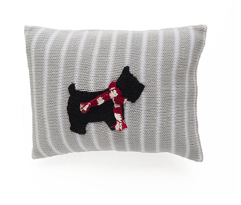 Mini Scotty Dog Pillow-  Baby / Child - Handmade- Support Fair Trade for Artisans - Give Back Goods