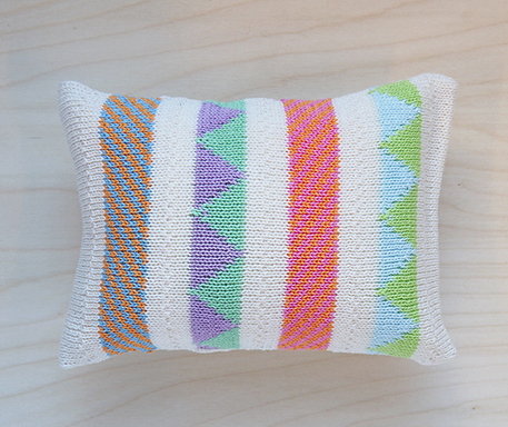 Multi-Colored Mini Striped Pillows (Navy or Ecru) - Baby /Child  - Support Fair Trade for Artisans - Give Back Goods