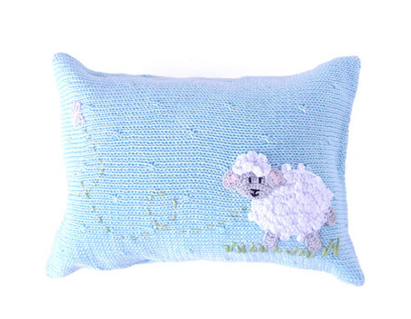 Mini Sheep Baby Pillows  (Pink or Blue)- Handmade-  Support Fair Trade for Artisans - Give Back Goods
