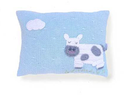 Mini Cow Pillow-  Baby / Nursery  - Handmade - Support Fair Trade for Artisans - Give Back Goods