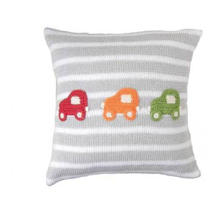 Three Car Pillow- Baby /Child - Handmade- Support Fair Trade for Artisans - Give Back Goods
