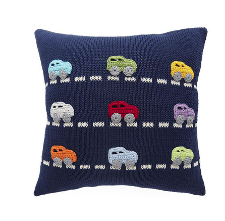 Nine Cars Pillow-  Baby /Child - Support Fair Trade for Artisans - Give Back Goods