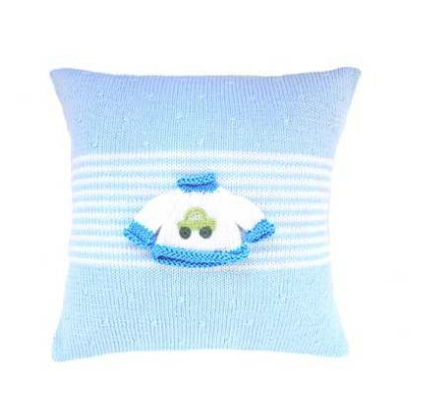 Sweater Baby Pillow - Pink/Blue - Handmade- Support Fair Trade for Artisans - Give Back Goods