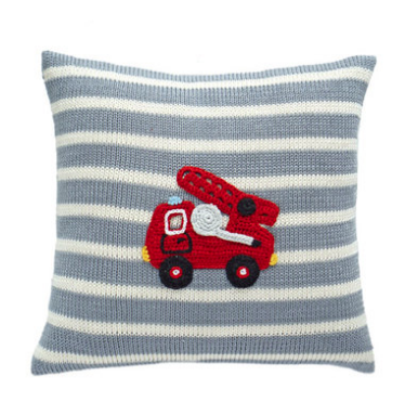 Fire Truck Pillow- Baby /Child - Handmade- Support Fair Trade for Artisans - Give Back Goods
