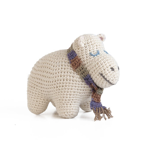 100% Organic Cotton Baby Hippo - Handmade - Support Fair Trade for Artisans - Give Back Goods
