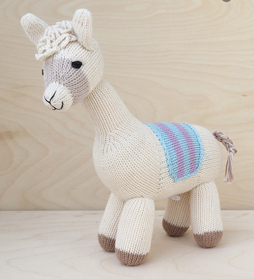 Hand Knit Llama - Support Fair Trade for Artisans - Give Back Goods