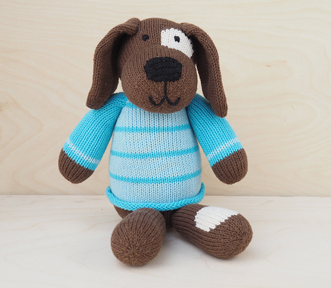 Hand Knit Spot The Dog Stuffed Animal  - Support Fair Trade for Artisans - Give Back Goods