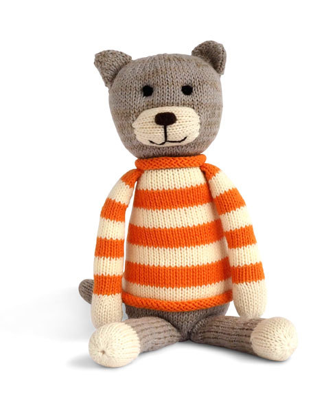 Hand Knit Thomas The Cat Stuffed Animal - Support Fair Trade! - Give Back Goods