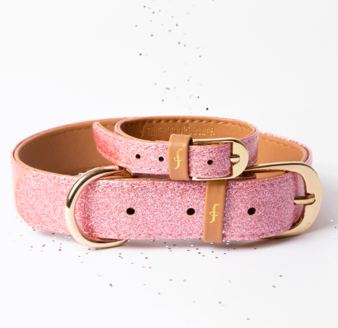 Pink Sparkle Dog Collar & Bracelet 4 You! Supports Breast Cancer Research & Feeds 4 shelter pups! - Give Back Goods