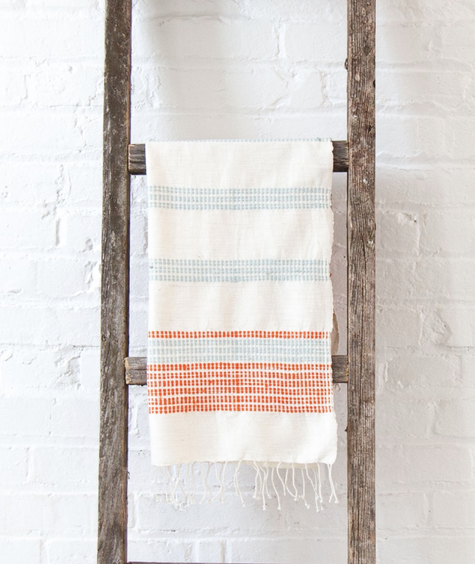 2- Hand Woven Camden Ethiopian Cotton Hand Towels (choose color)- Eco-Friendly, Fair Trade - Give Back Goods