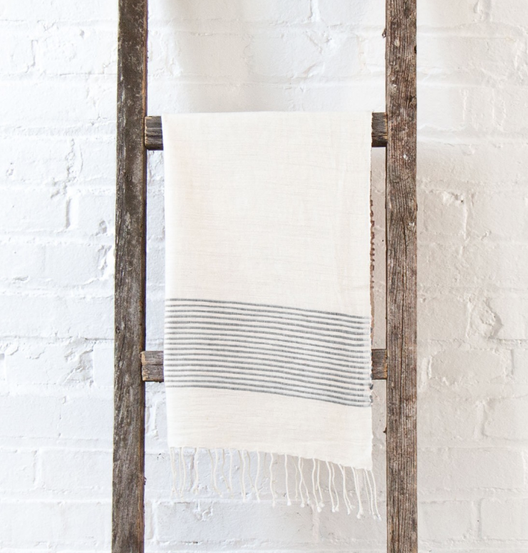 2 Hand Woven Riviera Ethiopian Cotton Hand Towels (choose color)- Eco-Friendly, Fair Trade - Give Back Goods