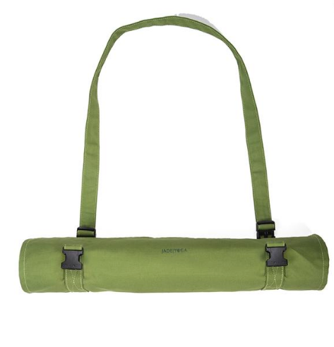 Yoga Mat Carrier Bag- Organic Cotton Canvas - Protects habitat for chimpanzees in Uganda! - Give Back Goods