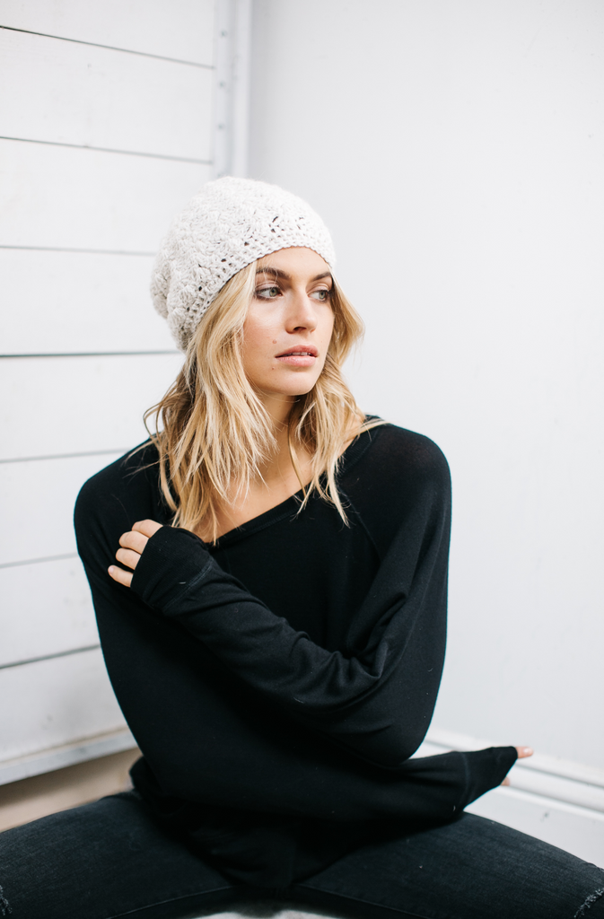 Crocheted Alpaca blend Beanie Hat- Help Break the Cycle of Poverty - Give Back Goods