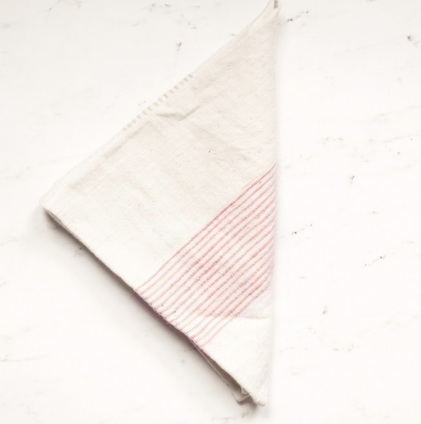 Set of 4- Hand Woven Ethiopian Cotton Dinner Napkins- Riviera- Eco-Friendly, Fair Trade - Give Back Goods
