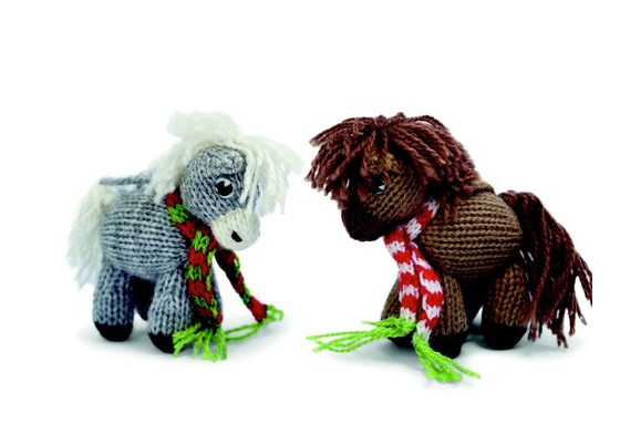 Set of 6- Hand Knit Horse Ornaments- Fair Trade - Give Back Goods