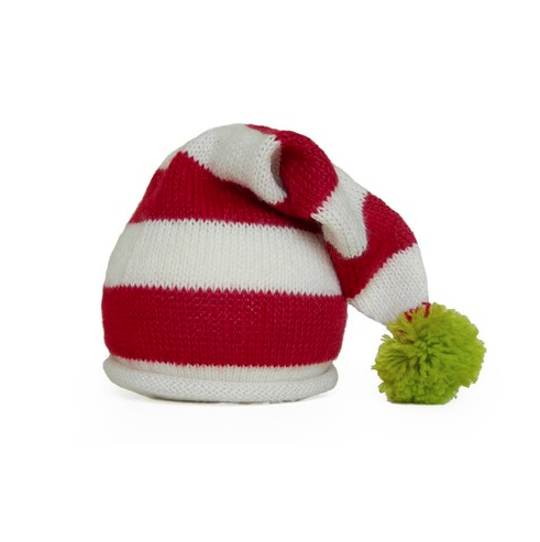Hand knit Santa Toddler Hat with Pom - Fair Trade - Give Back Goods