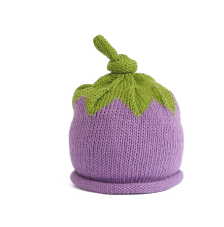 Hand Knit Purple Berry Baby/ Toddler Hat - Fair Trade