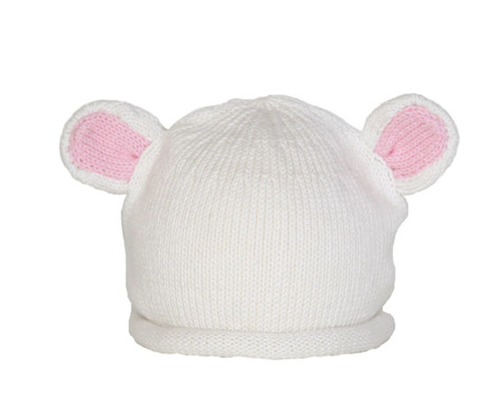 Handmade Knit Polar Bear Ears Baby /Toddler Hat  - Fair Trade - Give Back Goods
