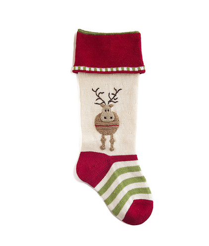 Handmade Reindeer Christmas Stocking- Fair Trade- Supports Artisan Women in Armenia - Give Back Goods